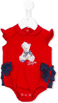 Lapin House - teddy bear bow body - kids - Silk/Cotton/Spandex/Elastane - 3 mth