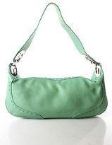 Escada Mint Green Leather Silver Tone Accent Small Eluna Shoulder Handbag