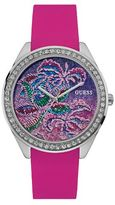 GUESS W0960l1 ladie`s silicone strap watch