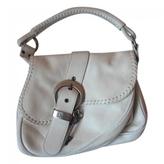 Christian Dior White Leather Handbag