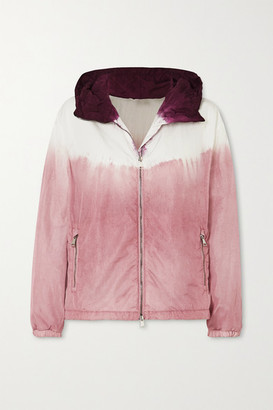 Moncler Tie-dyed Hooded Nylon Jacket - Pink