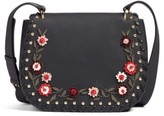 Kate Spade Madison Daniels Drive - Tressa Embellished Leather Crossbody Bag - Black