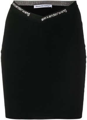 Alexander Wang Fitted Logo Skirt
