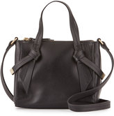Foley + Corinna Bandeau Medium Leather Satchel Bag, Black