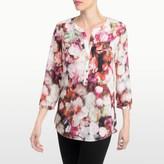 NYDJ Renaissance Flora Print 3/4 Sleeve Blouse