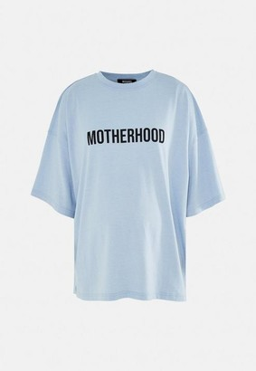 Missguided Blue Motherhood Graphic Maternity T Shirt