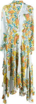 Lanvin Flower Swirl printed long dress