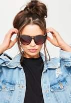 Missguided Black Round Club Sunglasses