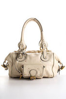 Chloé Cream Ivory Leather Gold Tone Paddington Satchel Handbag BY4868CHL MHL