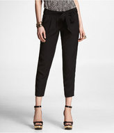 Express Soft Cropped Belted Pant