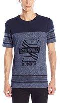 Southpole Men's Short Sleeve Marled T-Shirt with Basic Graphics
