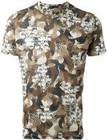 Etro floral camouflage T-shirt - men - Linen/Flax - M