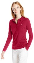 Lacoste Women's Long Sleeve Stretch Pique Slim Fit Polo Shirt