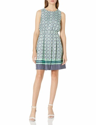 Donna Morgan Women's Printed Fit and Flare Dress