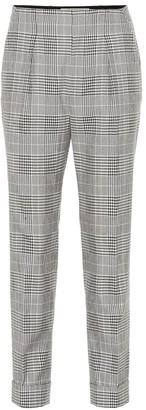 Roland Mouret Horley checked wool-blend pants