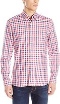 Stone Rose Men's Check Long Sleeve Button Down Shirt