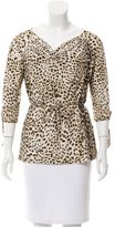 Roberto Cavalli Cheetah Print Long Sleeve Top