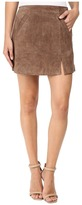 Blank NYC Camel Suede Mini Skirt in Midnight Toker Women's Skirt
