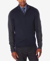Perry Ellis Men's Colorblocked Quarter-Zip Sweater