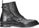 Alexander McQueen Triple buckle leather boots