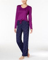 Nautica Scoop-Neck Knit Top and Printed Pajama Pants Gift Set