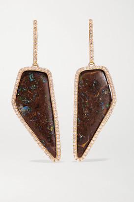 Kimberly Mcdonald McDonald - 18-karat Rose Gold, Opal And Diamond Earrings - one size