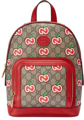 Gucci Small backpack with GG Apple print