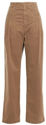 Brunello Cucinelli Pleated High-rise Straight-leg Jeans