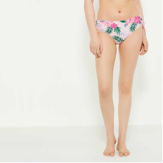 Joe Fresh Women's Ruched Side Bikini Bottoms, Peach (Size M)