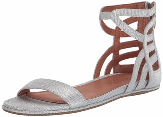 Gentle Souls by Kenneth Cole Women's Larisa Flat Sandal with Gladiator Ankle Straps