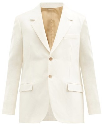 Acne Studios Classic-fit Cotton-blend Hopsack Blazer - Beige