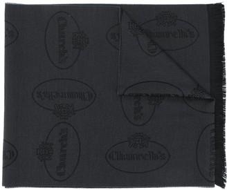 Church's Logo-Jacquard Wool Scarf
