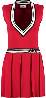 GCDS Flared Skirt Knit Dress