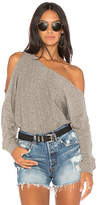 Lanston One Shoulder Pullover in Gray. - size S (also in XS)