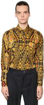 Etro Psychedelic Print Washed Cotton Shirt