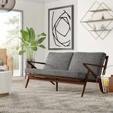 "Mid-Century MODERN Mcfaddin 64"" Flared Arm Sofa Mercury Row Upholstery Color: Mineral"