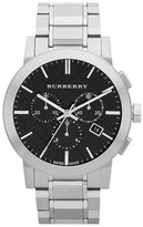 Burberry Check Stamped Chronograph Bracelet Watch, 42mm