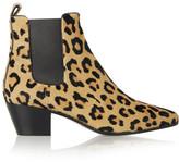 Saint Laurent Leopard-print Calf Hair Ankle Boots - Leopard print