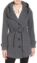 Gallery Women's Jacquard Hooded Coat