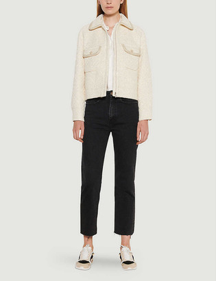 Sandro Tedy cotton-blend cropped jacket