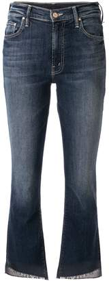 Mother faded heart cropped jeans