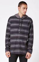 Billabong Baja Hooded Plaid Flannel Button Up Shirt