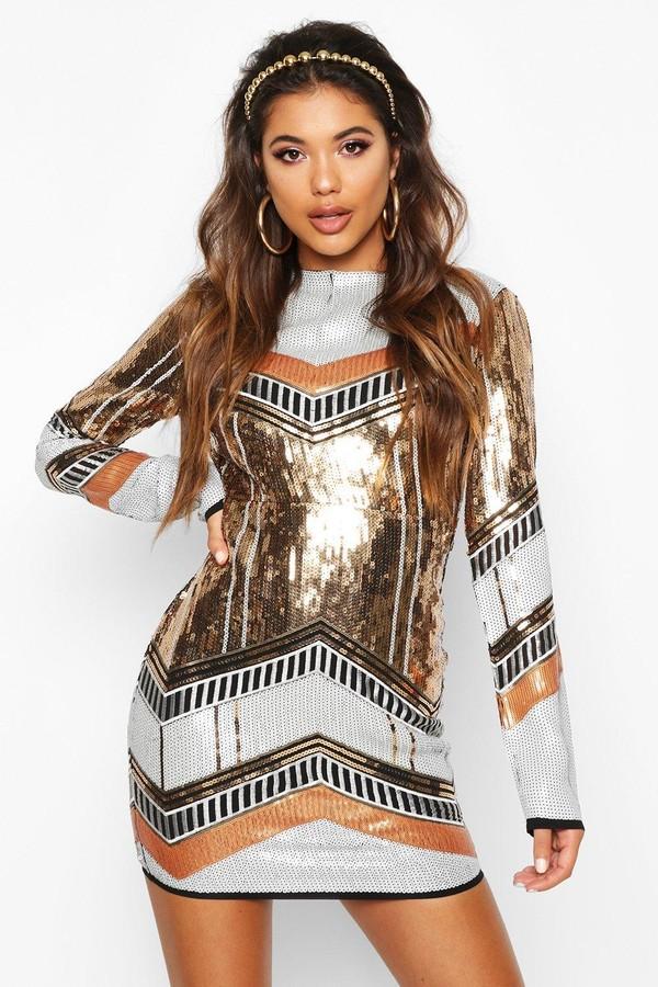 boohoo Boutique Sequin Bodycon Dress
