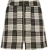 River Island Womens RI Plus Black and white checked woven skirt