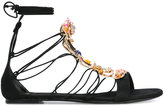 Casadei embellished lace-up evening sandals