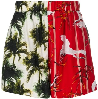 Buscemi Palm Tree Print Shorts
