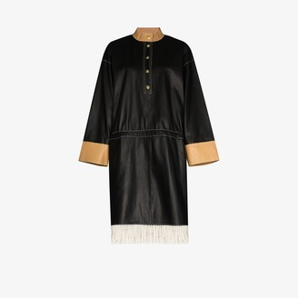 Stand Studio Kendall fringed leather dress
