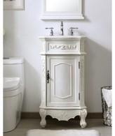 """Jeremiah 19"""" Single Bathroom Vanity Set Charlton Home Base Finish: Antique White"""
