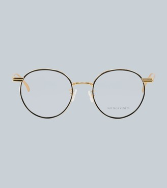 Bottega Veneta Round-frame metal glasses