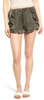 Soprano Women's Ruffle Satin Shorts